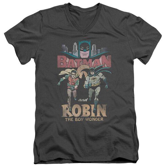 Batman Classic Tv Classic Duo Short Sleeve Adult V Neck T-Shirt