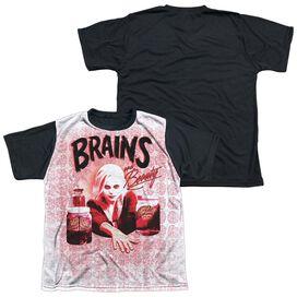 Izombie Brains Short Sleeve Youth Front Black Back T-Shirt