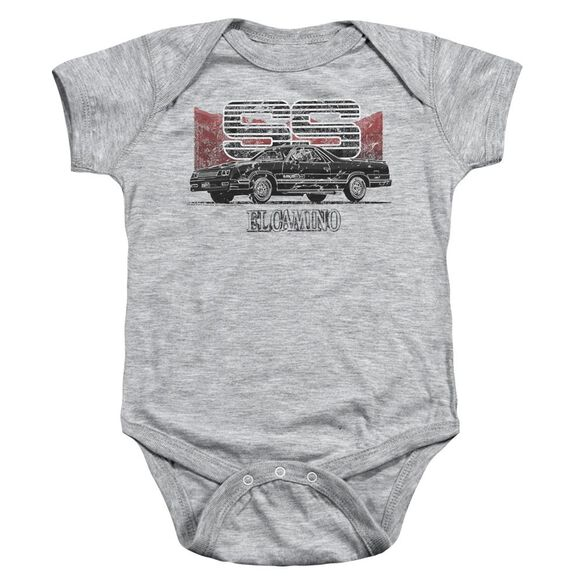 Chevrolet El Camino Ss Mountains Infant Snapsuit Athletic Heather