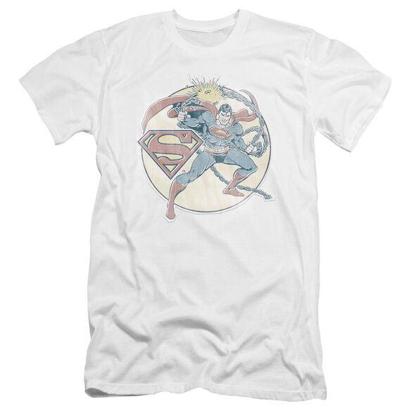 Dco Retro Superman Iron On Premuim Canvas Adult Slim Fit