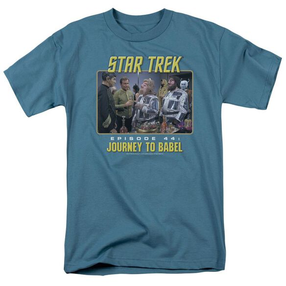 St Original Journey To Babel Short Sleeve Adult Slate T-Shirt