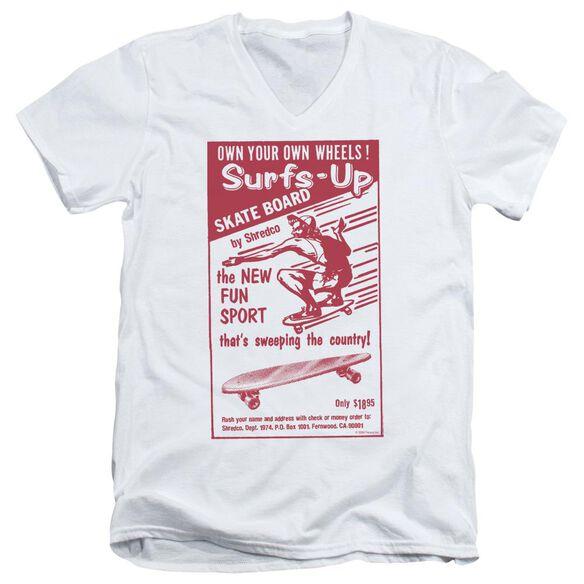 Surfs Up Short Sleeve Adult V Neck T-Shirt