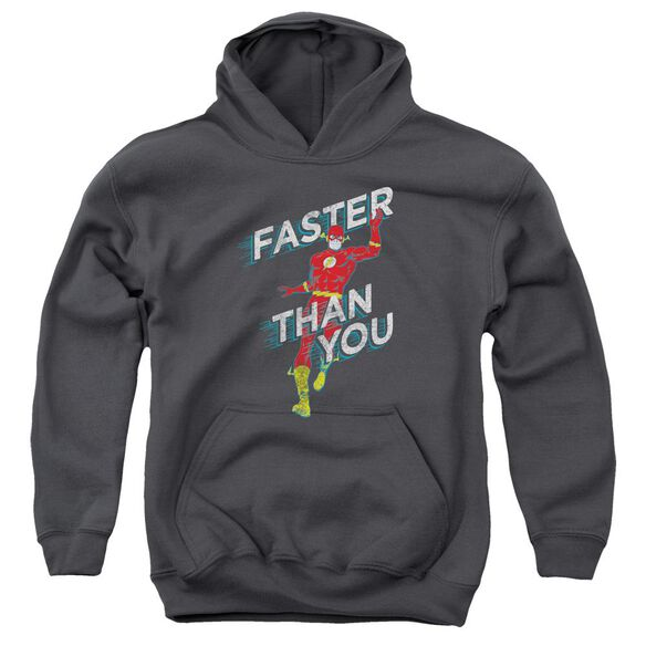 Dc Flash Faster Than You Youth Pull Over Hoodie