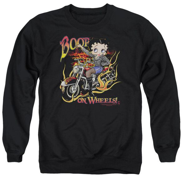 Betty Boop On Wheels Adult Crewneck Sweatshirt