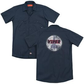 Bsg War Torn Viper Logo (Back Print) Adult Work Shirt
