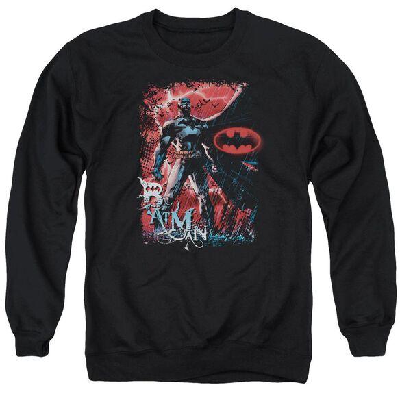 Batman Gotham Reign - Adult Crewneck Sweatshirt - Black