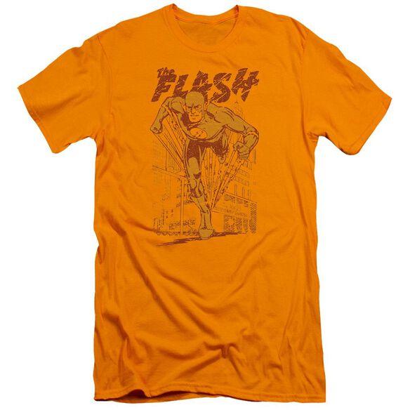 Dc Flash Busting Out Premuim Canvas Adult Slim Fit