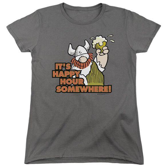 Hagar The Horrible Happy Hour Short Sleeve Womens Tee T-Shirt