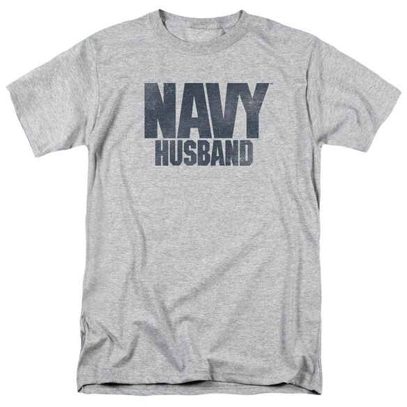 Navy Husband Short Sleeve Adult Athletic T-Shirt