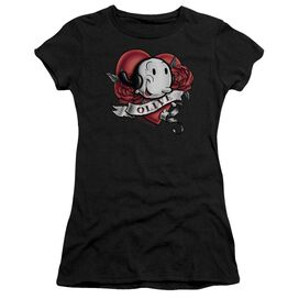 Popeye Olive Tattoo Short Sleeve Junior Sheer T-Shirt