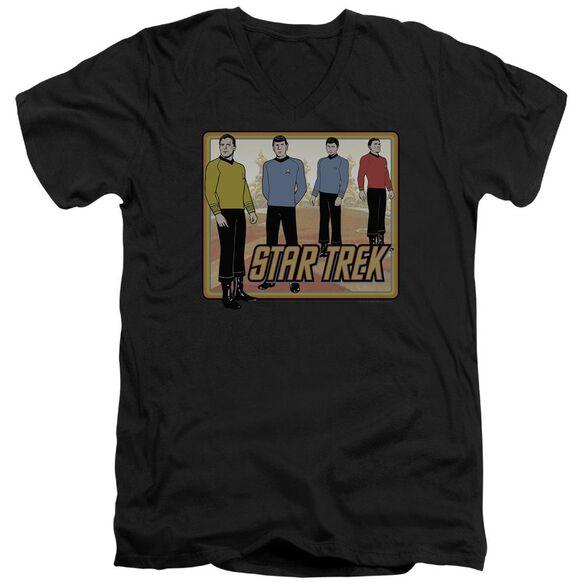 Star Trek Classic Short Sleeve Adult V Neck T-Shirt