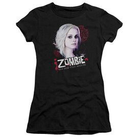 Izombie Take A Bite Short Sleeve Junior Sheer T-Shirt
