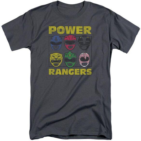 Power Rangers Ranger Heads Short Sleeve Adult Tall T-Shirt