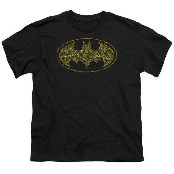 Batman Type Logo Short Sleeve Youth T-Shirt