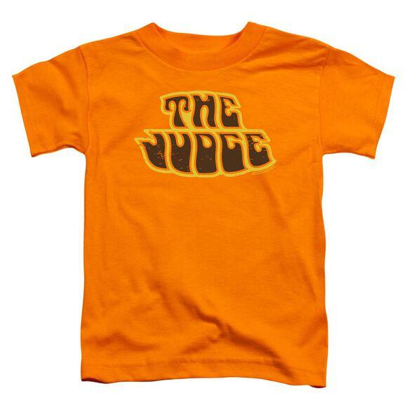 Pontiac Judge Logo Short Sleeve Toddler Tee Orange T-Shirt