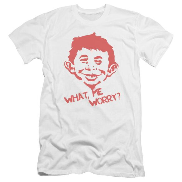 Mad What Me Worry Premuim Canvas Adult Slim Fit