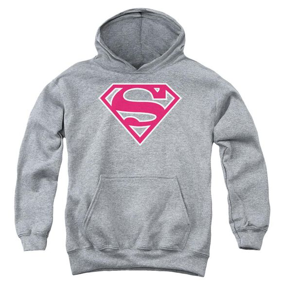 Superman Red & White Shield Youth Pull Over Hoodie Athletic