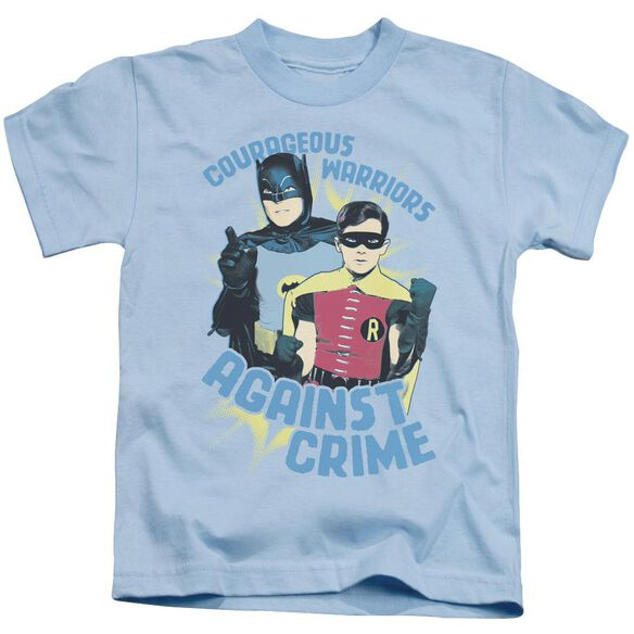 Batman Classic Tv Courageous Warriors Short Sleeve Juvenile Light T-Shirt