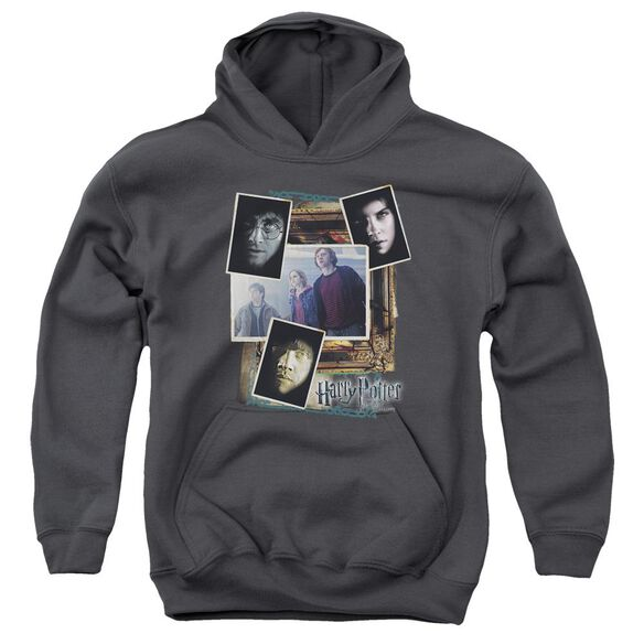 Harry Potter Trio Collage Youth Pull Over Hoodie