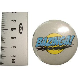 Big Bang Theory Bazinga Gray Button