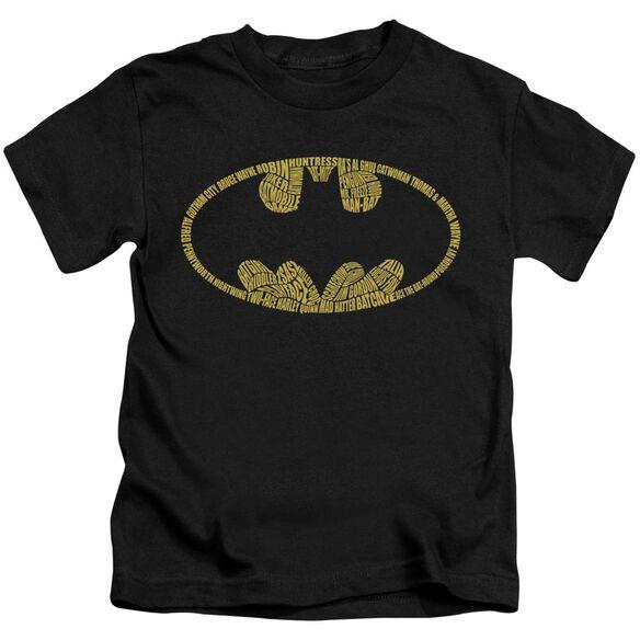 BATMAN WORD LOGO - S/S JUVENILE 18/1 - BLACK - T-Shirt