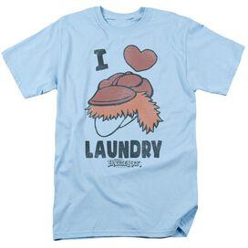 Fraggle Rock Laundry Lover Short Sleeve Adult Light Blue T-Shirt