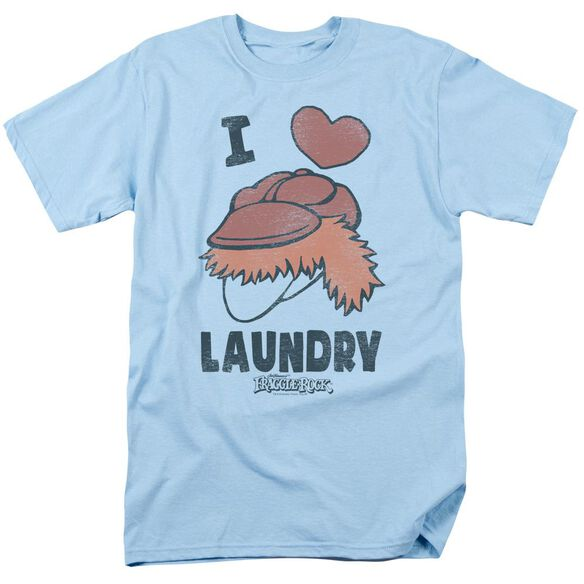 Fraggle Rock Laundry Lover Short Sleeve Adult Light Blue T-Shirt