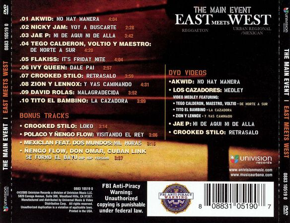Main Event East Me(Cd/Dvd