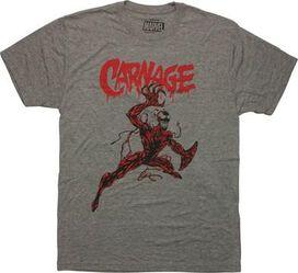 Carnage Action Pose T-Shirt Sheer
