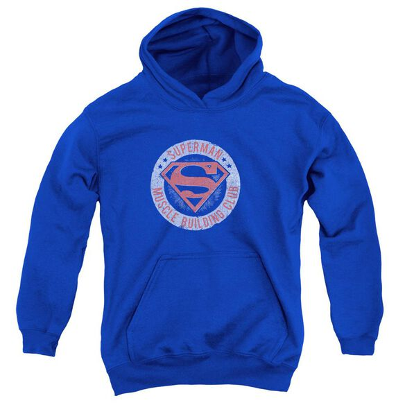 Superman Muscle Club Youth Pull Over Hoodie