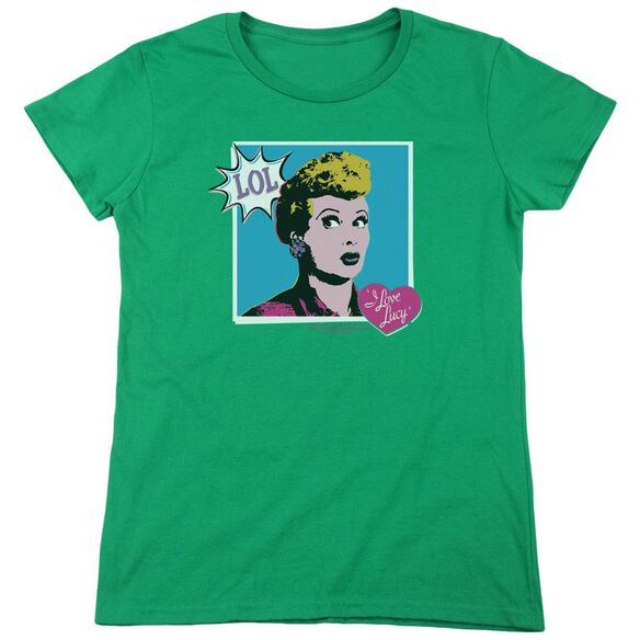 I Love Lucy I Love Worhol Lol Short Sleeve Womens Tee Kelly T-Shirt