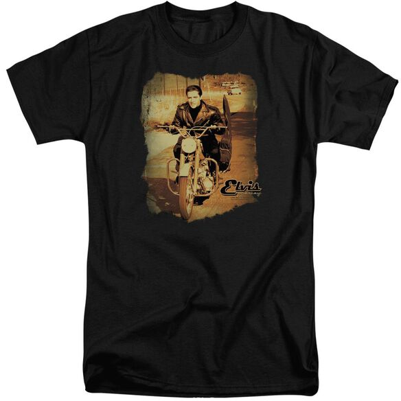 Elvis Hit The Road Short Sleeve Adult Tall T-Shirt