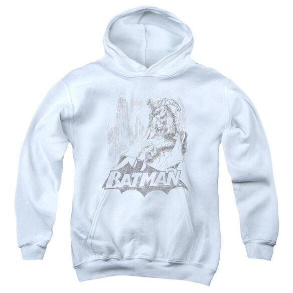 Batman Bat Sketch Youth Pull Over Hoodie