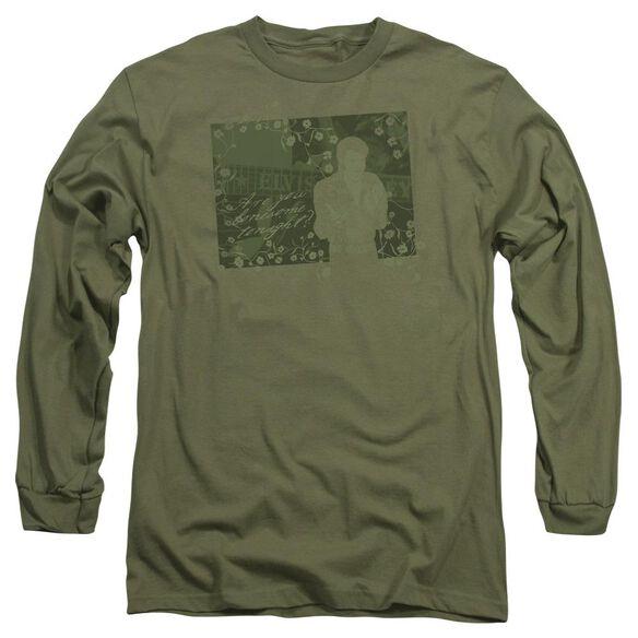 Elvis That 70 S Elvis Long Sleeve Adult Military T-Shirt
