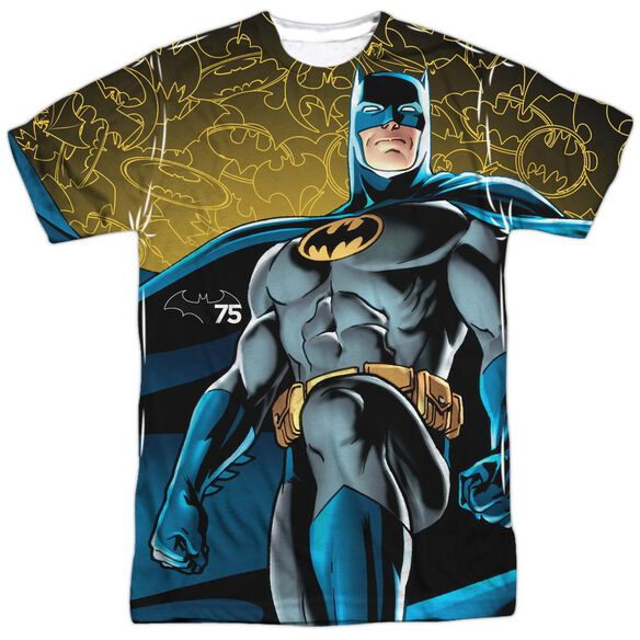 Batman 75 Glow Short Sleeve Adult Poly Crew T-Shirt