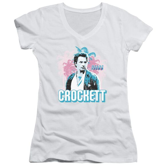 Miami Vice Crockett Junior V Neck T-Shirt