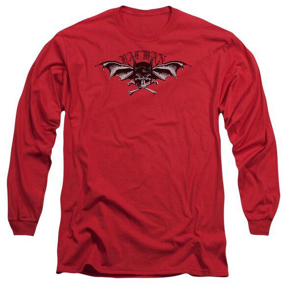 Batman Wings Of Wrath Long Sleeve Adult T-Shirt