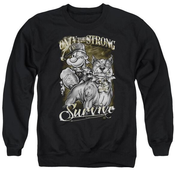 Popeye Only The Strong Adult Crewneck Sweatshirt