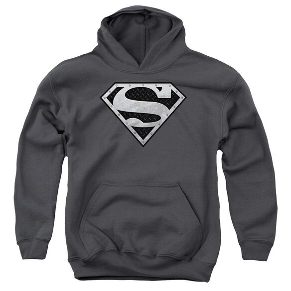 Superman Super Metallic Shield Youth Pull Over Hoodie