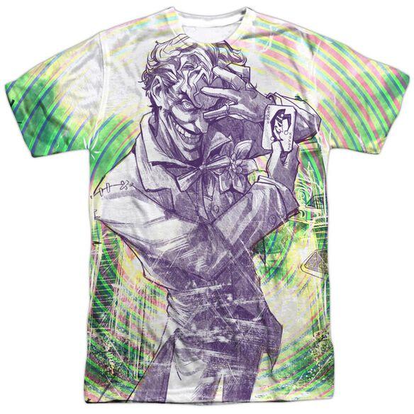 Batman Mad Mad Swirl Short Sleeve Adult Poly Crew T-Shirt