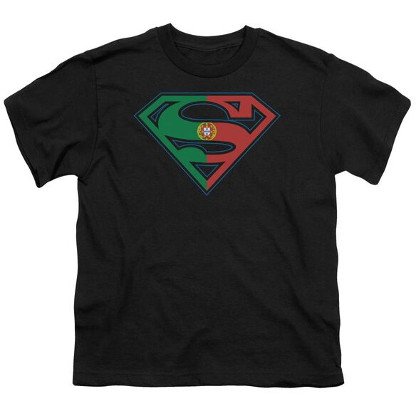 SUPERMAN PORTUGAL SHIELD - S/S YOUTH 18/1 - BLACK T-Shirt