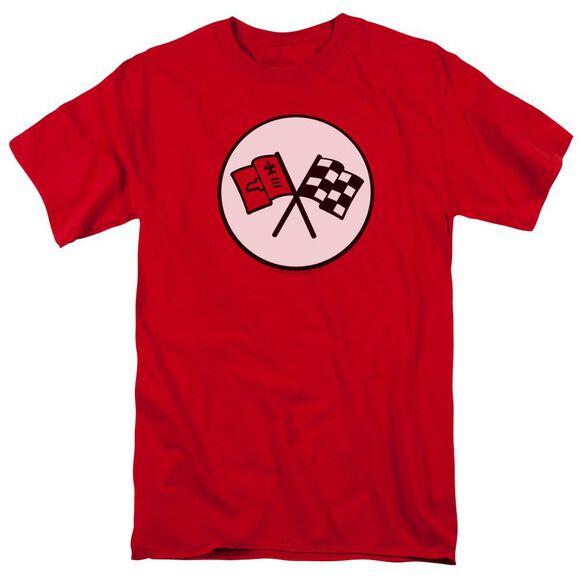 Chevrolet 2 Nd Gen Vette Logo Short Sleeve Adult T-Shirt