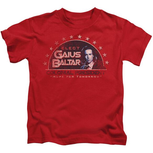 Bsg Elect Gaius Short Sleeve Juvenile Red Md T-Shirt