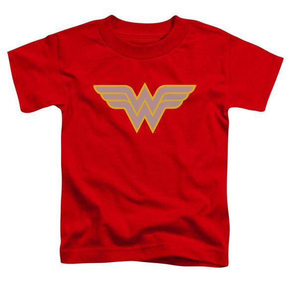 Dc Ww Logo Short Sleeve Toddler Tee Red T-Shirt
