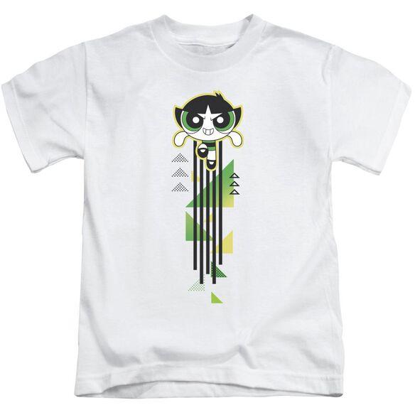 Powerpuff Girls Buttercup Streak Short Sleeve Juvenile White T-Shirt