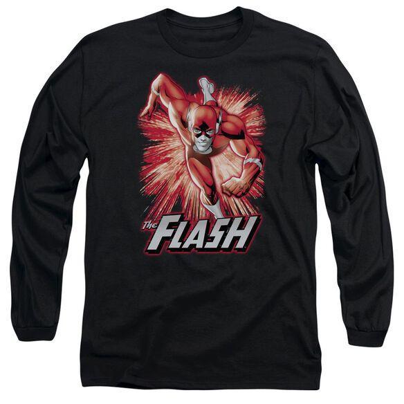 Jla Flash Red & Gray Long Sleeve Adult T-Shirt