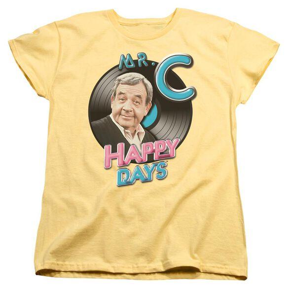 Happy Days Mr. C Short Sleeve Womens Tee T-Shirt