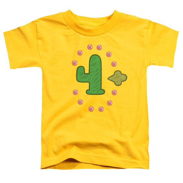 Clarence Freedom Cactus Short Sleeve Toddler Tee Yellow T-Shirt