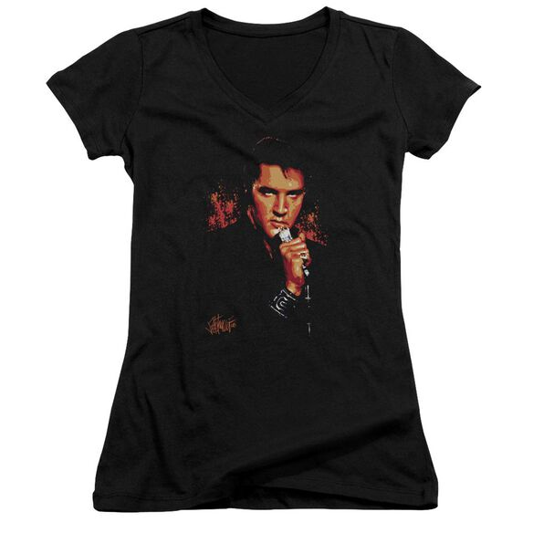 Elvis Trouble Junior V Neck T-Shirt