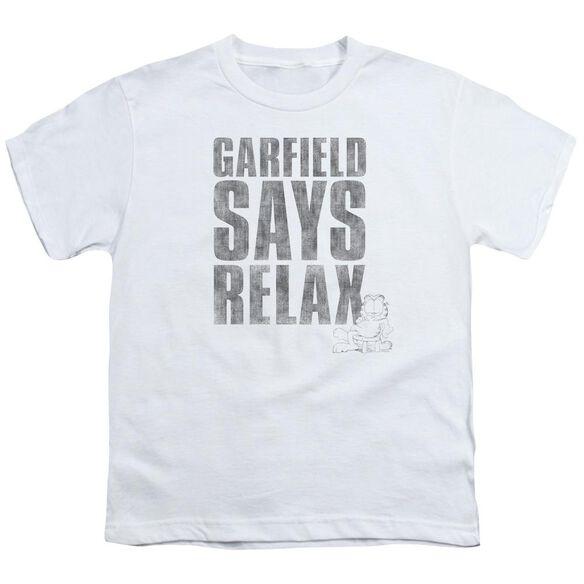 GARFIELD RELAX - S/S YOUTH 18/1 - WHITE T-Shirt